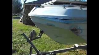 1972 THUNDERBIRD SHAWNEE BOAT RESTORATION-HULL WARPED????? .AVI