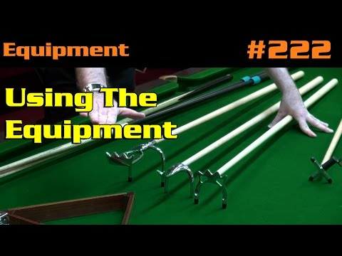 EQUIPMENT| Using The Equipment, Rests, Balls And Triangles