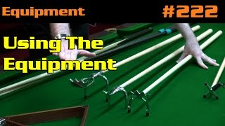 Snooker Accessories - EQUIPMENT| Using The Equipment, Rests, Balls And Triangles