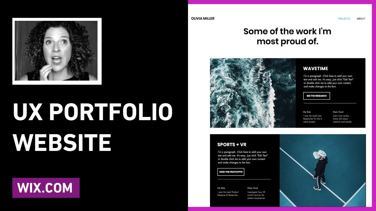 How To Create A UX Portfolio Website Using Wix com | Sarah Doody
