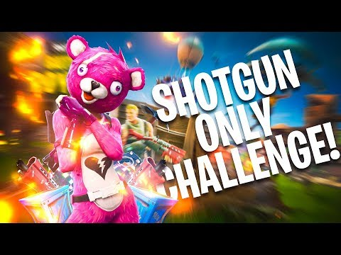 Shotgun Only Challenge! (15 Kill WIN!) - Fortnite Battle Royale