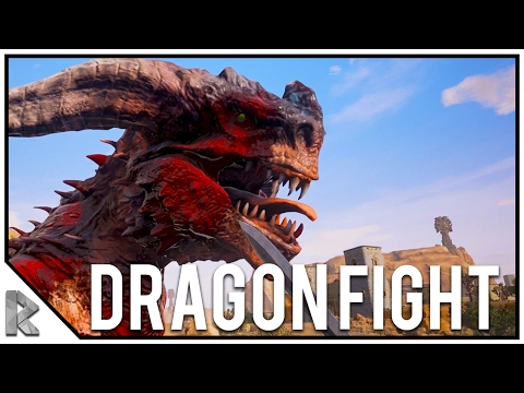 TAMING HYENAS & DRAGON BOSS FIGHT!  Conan Exiles Gameplay 20
