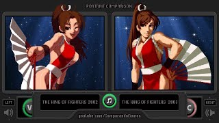 Portrait Comparison of The King of Fighters 02/03 (KOF 02 vs KOF 03) Side by Side Comparison