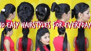 10 Easy Hairstyles For Everyday | SuperPrincessjo