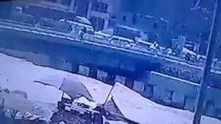 لحظة قيام إرهابي  بتفجير نفسه في محاولته لإستهداف  كنيسة العذراء بـ مسطرد في مصر