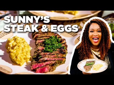 cook-steak-and-eggs-with-sunny-anderson-|-food-network