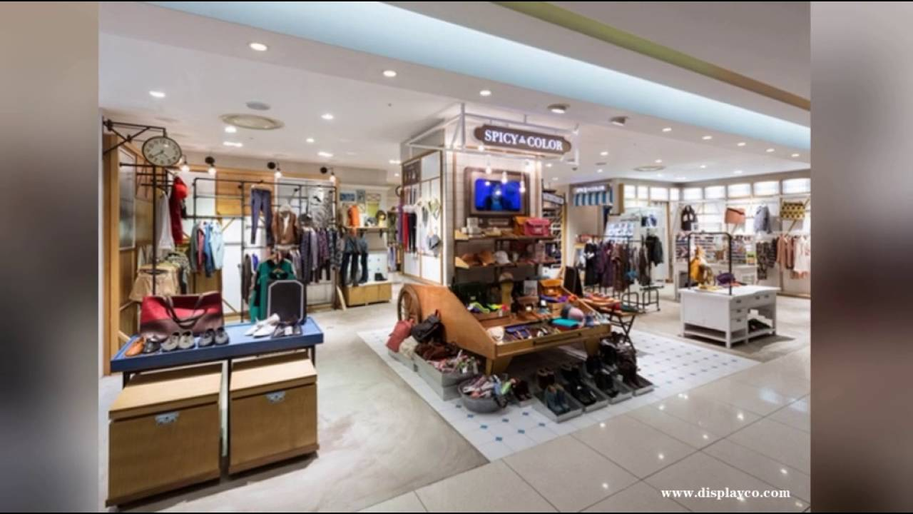 Store Display Furniture Inside Woman Garment Displaysfashion Elegant Retail Clothing Women Shop Furniture Display