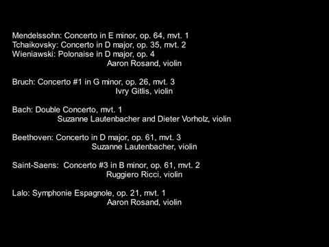 Aaron Rosand et al, Mendelssohn Tchaikovsky Beethoven Bruch Lalo