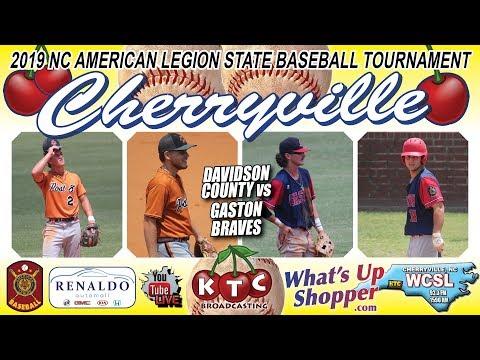 Gaston Braves Vs Davidson County - NC American Legion Baseball Tournament