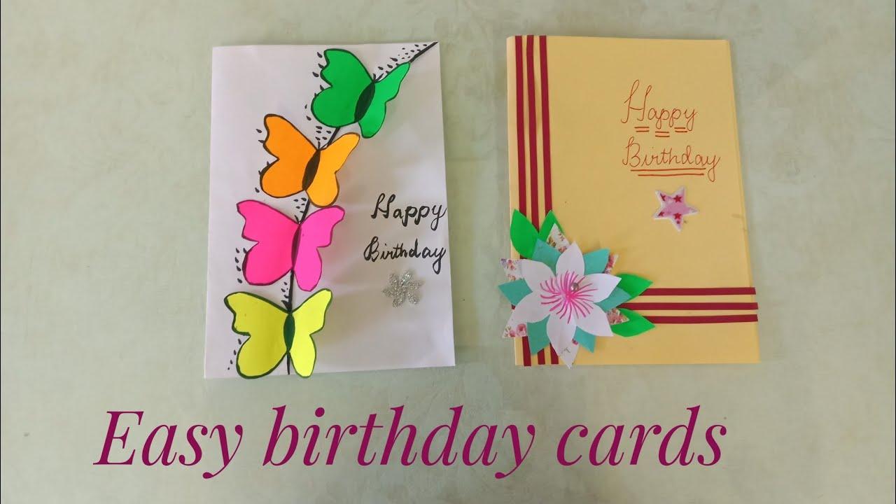 Easy birthday card ideas/7 beautiful birthday card tutorials/Butterfly  card/Happy birthday greetings