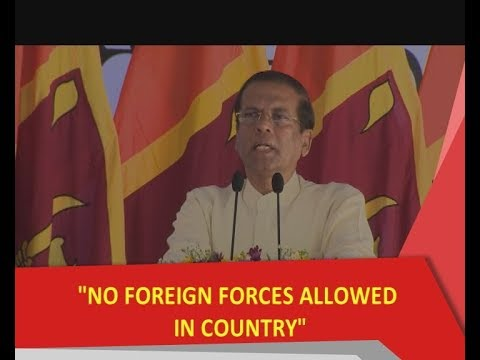 No foreign forces allowed in the country: President