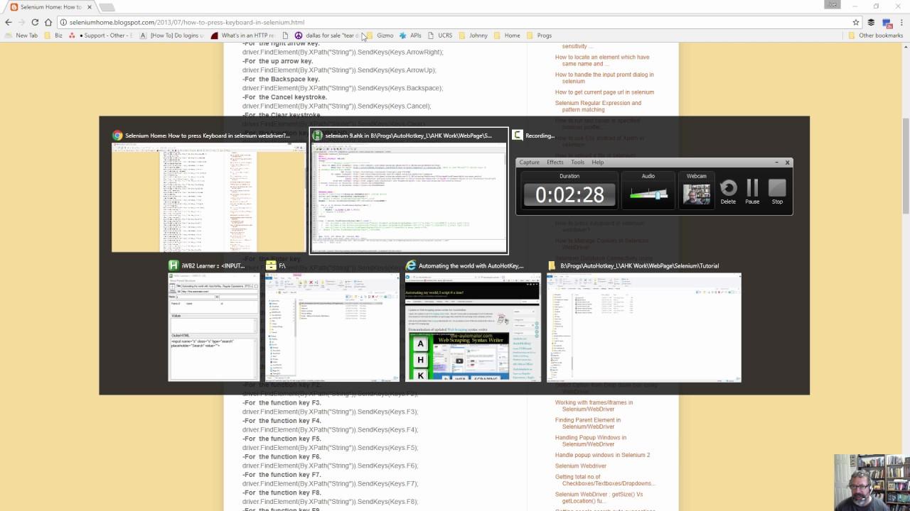 Using Selenium with AutoHotkey- Cross browser automation
