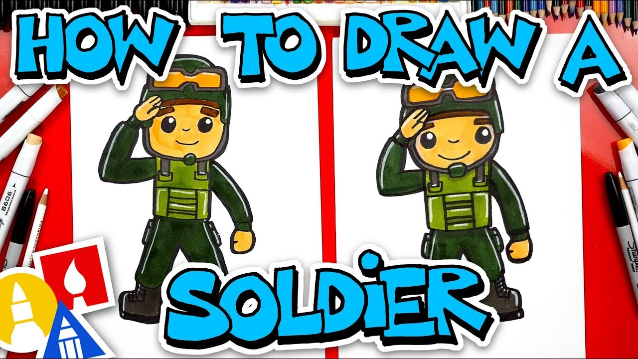 How To Draw A Soldier Saluting (Veterans Day)