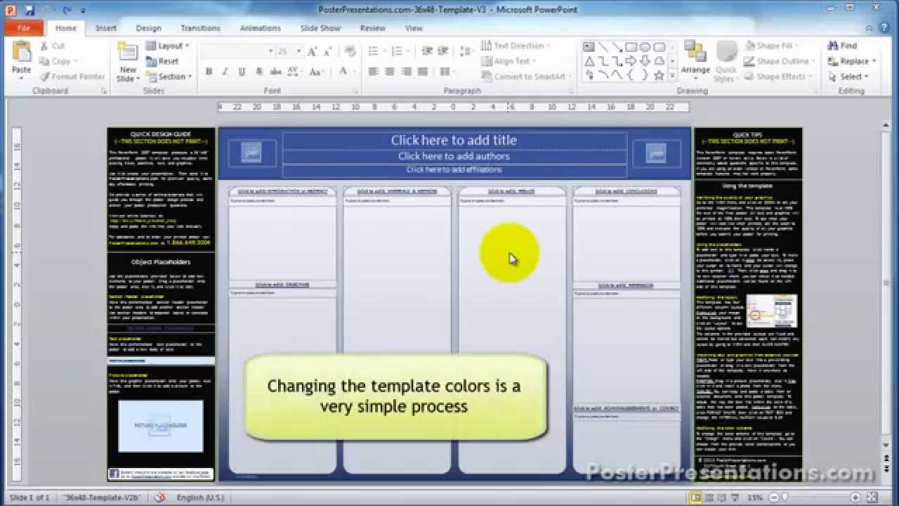 posterpresentations com templates - how to change the color scheme of your research poster