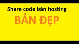 Share code bán hosting bản đẹp FREE | FrotionGamer