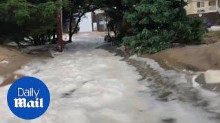 Strong waves and floods devastate North Carolina coast