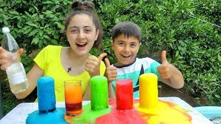 Guka and Maria Pretend Play Magic Lava - Educational Video For Children By Gyka Family Show