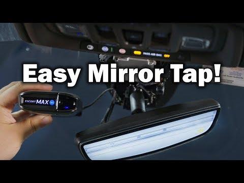 2019 GMC Sierra Denali Radar Detector & Dash Cam Hardwire Mirror Tap