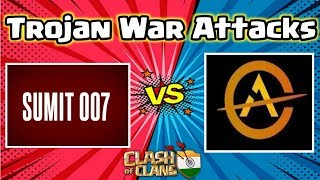 Sumit 007 vs Clashing Adda | Trojan War Hindi | Clash of Clans