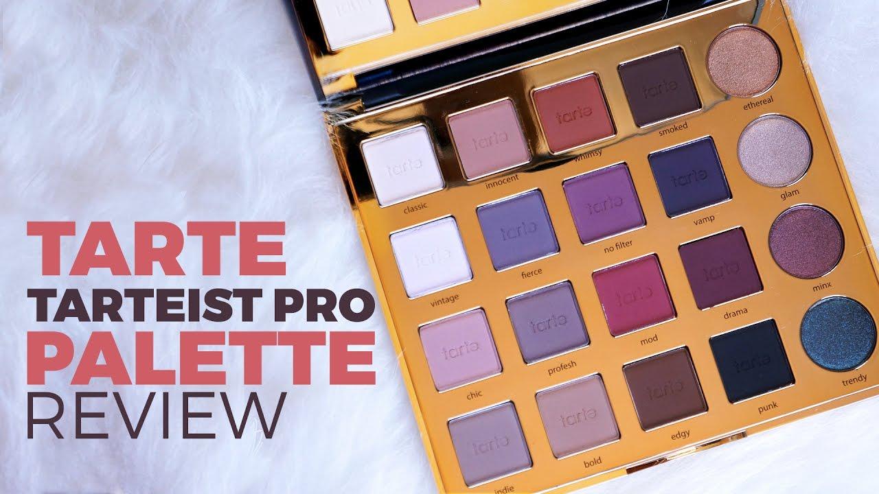 Tarte Tarteist Pro Eyeshadow Palette Review Swatches
