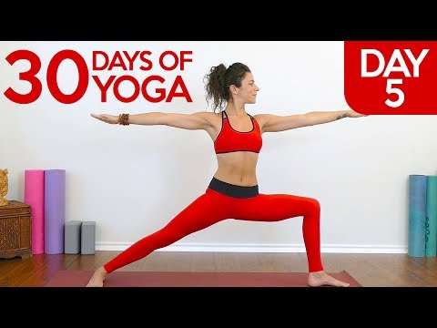 Beginners Power Yoga With Jess Day 5 Of 30 Challenge Weight Loss Yoga Class At Home Youtube