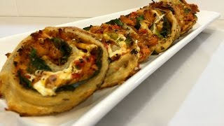 Very Easy Kid's Favorite Pizza Pinwheels In English