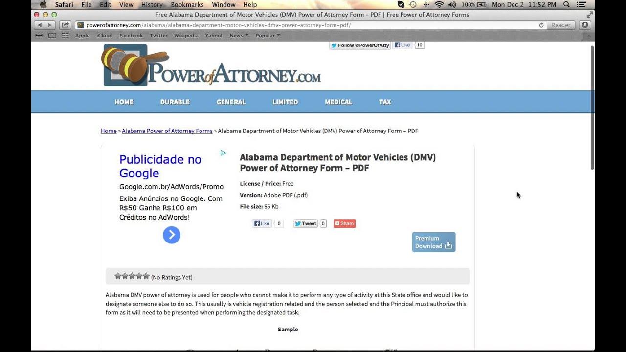 Alabama department of motor vehicle impremedia free alabama dmv power of attorney falaconquin