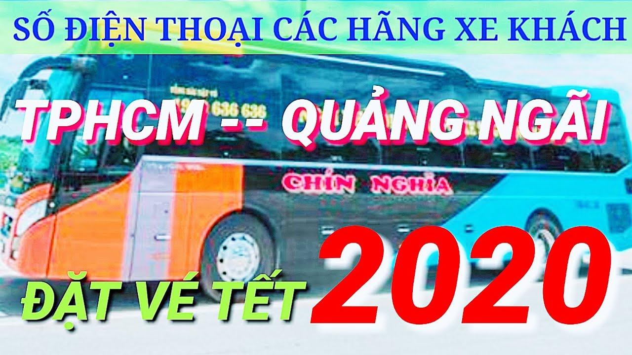 Các Hãng xe khách TPHCM _Quảng Ngãi ,địa chỉ và số điện thoại đặt vé Tết 2020