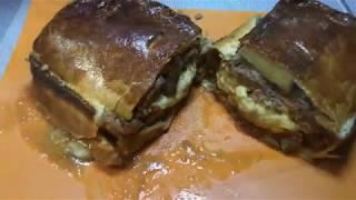 Пирог с говядиной и грибами