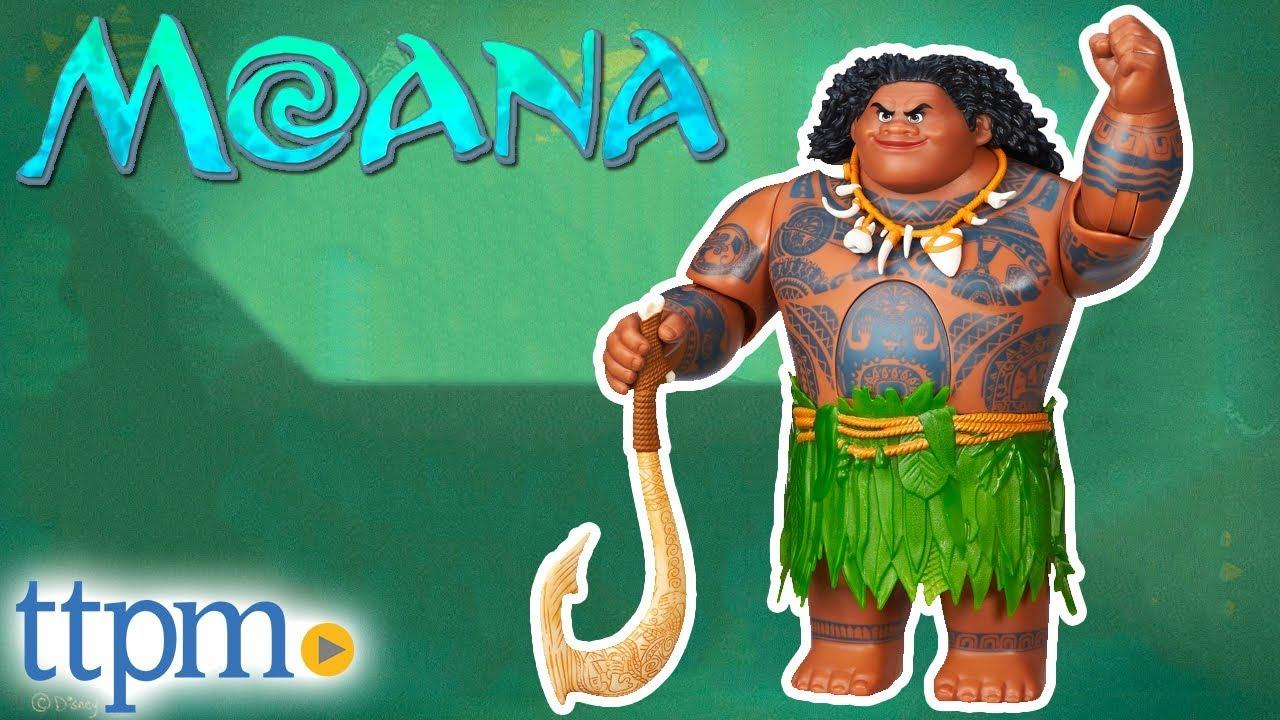 Disney Store Deluxe Moana Projection Boat Toy Doll Figure Playset Maui Tamatoa