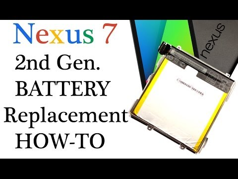 2013 Google Nexus 7 How to replace a battery