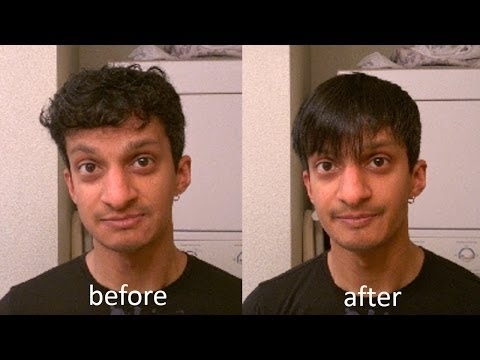How to Straighten and Style Short, Wavy Men's Hair