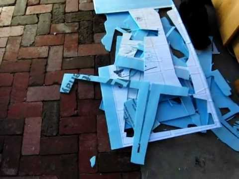 Lowes Fan Fold Foam Blue R C Plane Building