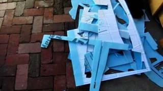 Lowes Fan Fold Foam (blue) R/c Plane Building