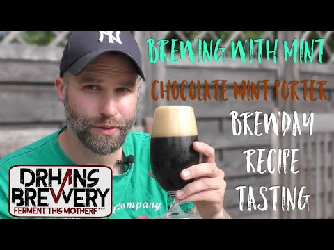 Brewing with mint - Chocolate mint porter Brewday, Recipe &