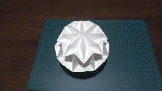 Repeat youtube video 【折り紙】 マジックボール(簡易式)作ってみた~♪ Origami - How to make Magic Ball