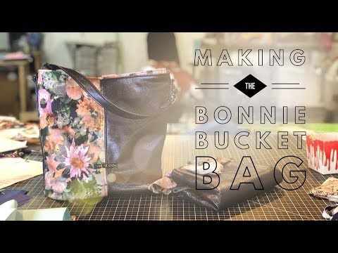 Making the Bonnie Bucket Bag by Swoon Sewing Patterns - YouTube