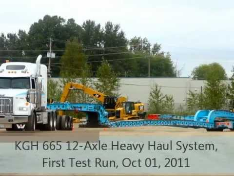 Knight Trailer KGH 665 12-Axle Heavy Haul System