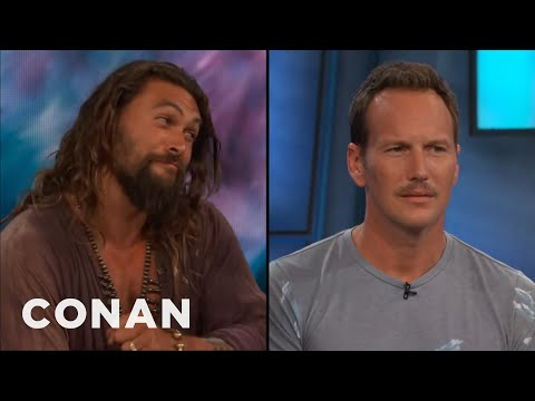 Patrick Wilson Thinks His Trident Is Better Than Jason Momoa's  - CONAN on TBS