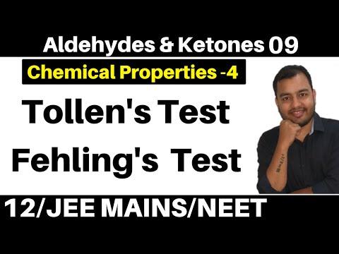 Aldehydes & Ketones 09 : Properties -4 : Tollen's Test (Silver Mirror Test) And Fehling's Test
