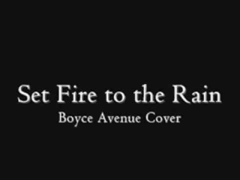 Set Fire to the Rain lyrics - Adele (Boyce Avenue Cover)
