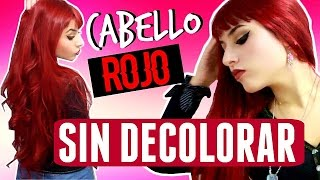 Cabello rojo SIN DECOLORAR en casa + Review Majicontrast L'Oréal Rojo Magenta | Hi Color Highlights