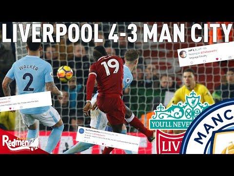 Liverpool v Man City 4-3 | Liverpool Fan Twitter Reactions