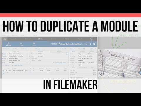 How to Duplicate Modules in FileMaker or FM Starting Point FMSP | FileMaker Pro 15 Videos