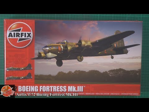 Airfix 1/72 Boeing Fortress MK.III review