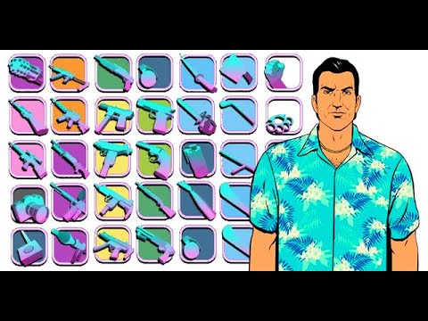 HOW to GET ALL WEAPONS in GTA VICE CITY? (Guns Location)