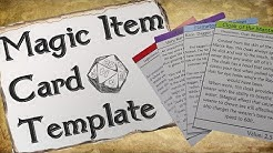 Magic Item Card Template for D&D | Free Download!