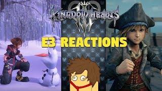LIVE REACTION | Kingdom Hearts 3 E3 2018 Trailers
