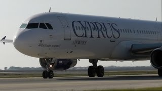 Cyprus A321-231 Close Taxi and Takeoff from Larnaca|Plane spotting from the apron!