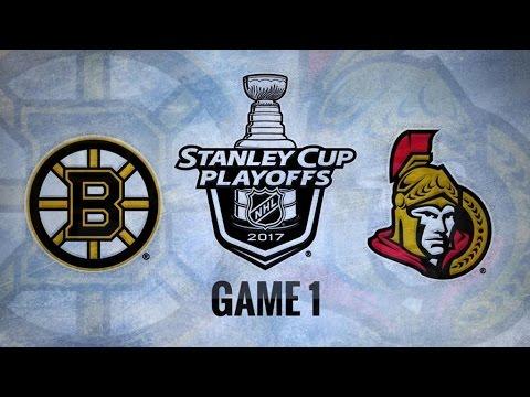 Boston Bruins Vs. Ottawa Senators Game 1 | NHL Game Recap | April 12, 2017 | HD